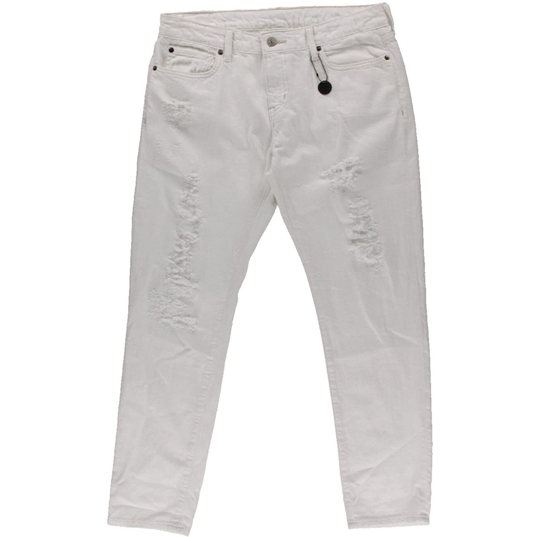 Denim & Supply Ralph Lauren Womens Destroyed Skinny Boyfriend Jeans White 31