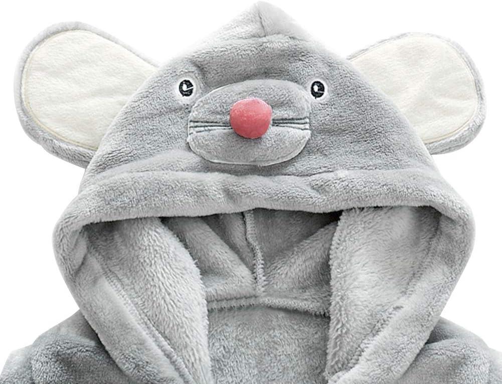para beb/é toalla de ba/ño con capucha dise/ño de dibujos animados Baby Pajamas suave y c/ómoda