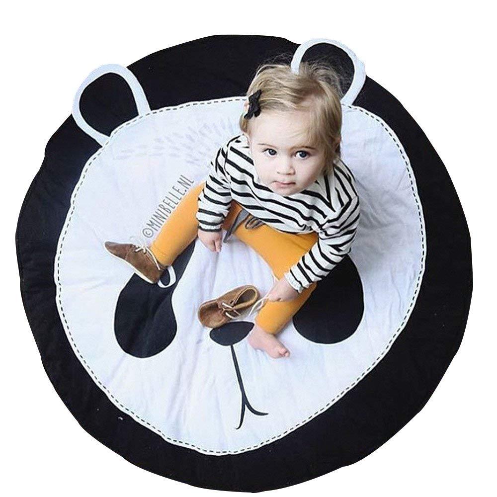 Abreeze Baby Crawling Mat Cute Panda Play Carpet Children Bedroom Decor Living Room Rug