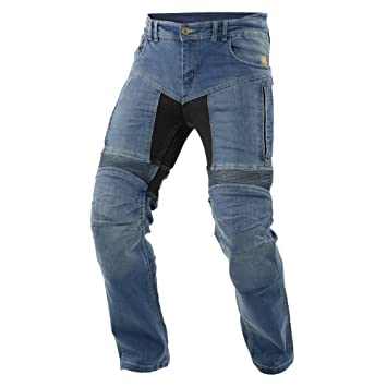 Trilobite Impresión de moto hombres pantalones vaqueros, luz azul, tamaño 46