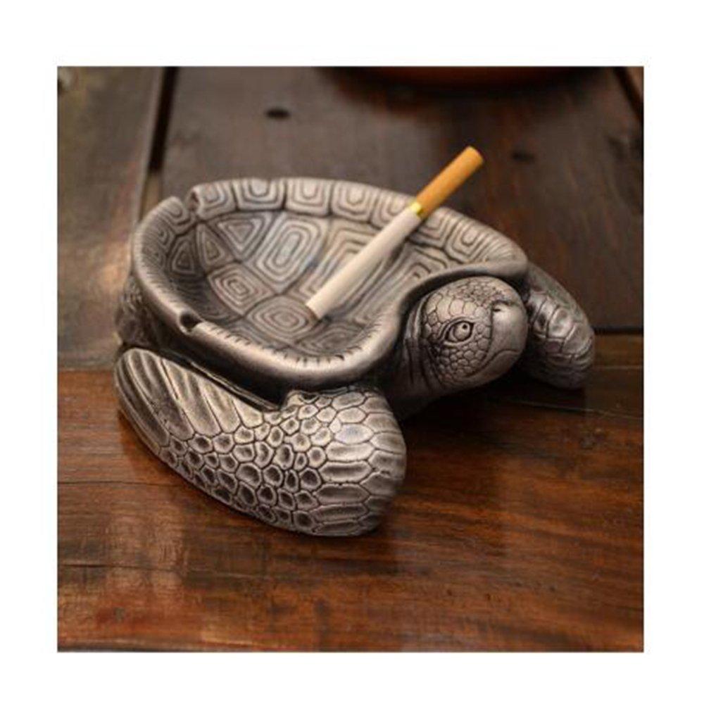 LuckySHD Adorable Turtle Ashtray,Interior Decoration Ornament Small Tray,Art Cartoon Cigarette Ashtray
