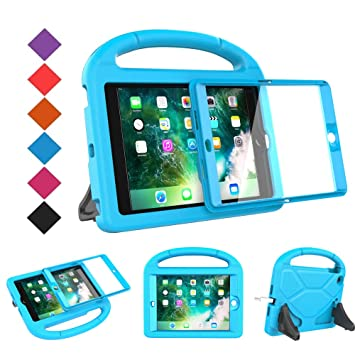 huge selection of a9a6a 41b61 BMOUO Case for iPad Mini 1 2 3 with Built-in Screen Protector, Shockproof  Lightweight Hard Cover Handle Stand Kids Case for Apple iPad Mini 1st 2nd  ...