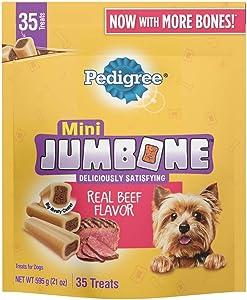 Pedigree Pack of 5 JUMBONE Real Beef Flavor Mini Dog Treats - 21 Ounces