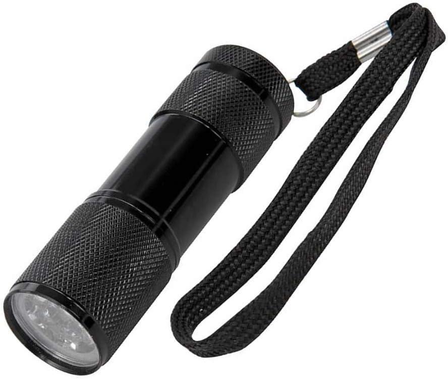 2 X Silverline 257229 9-LED Black Light UV Torch 30 Lumens