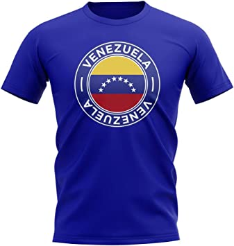 Airosportswear - Camiseta con Insignia de fútbol de la selección de la selección de fútbol de Venezuela (Royal), Hombre, Color Azul, tamaño Womens XL (Size 16-40