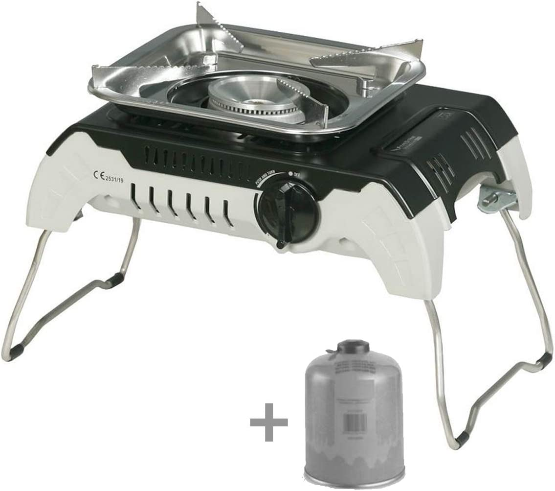Hornillo de gas Piezo 2400 W DRONE Camping FIVESTAR + ...