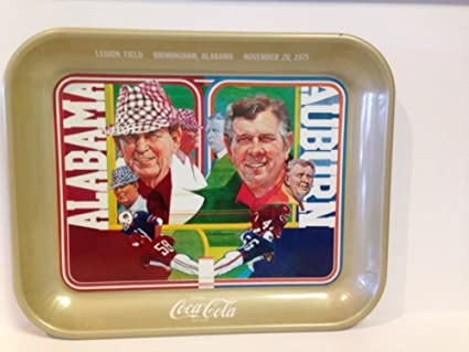 Amazon com: Coca Cola 1975 Iron Bowl Alabama Vs Auburn Tray Bear