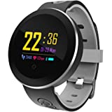 COSVII Smart Watch Waterproof, Bluetooth Fitness Tracker with Heart Rate Monitor, Sleep Monitor, Step& Calories Tracker, Alarm Clock, Call/SNS/SMS Reminder, Compatible with Android and iOS (Gray)