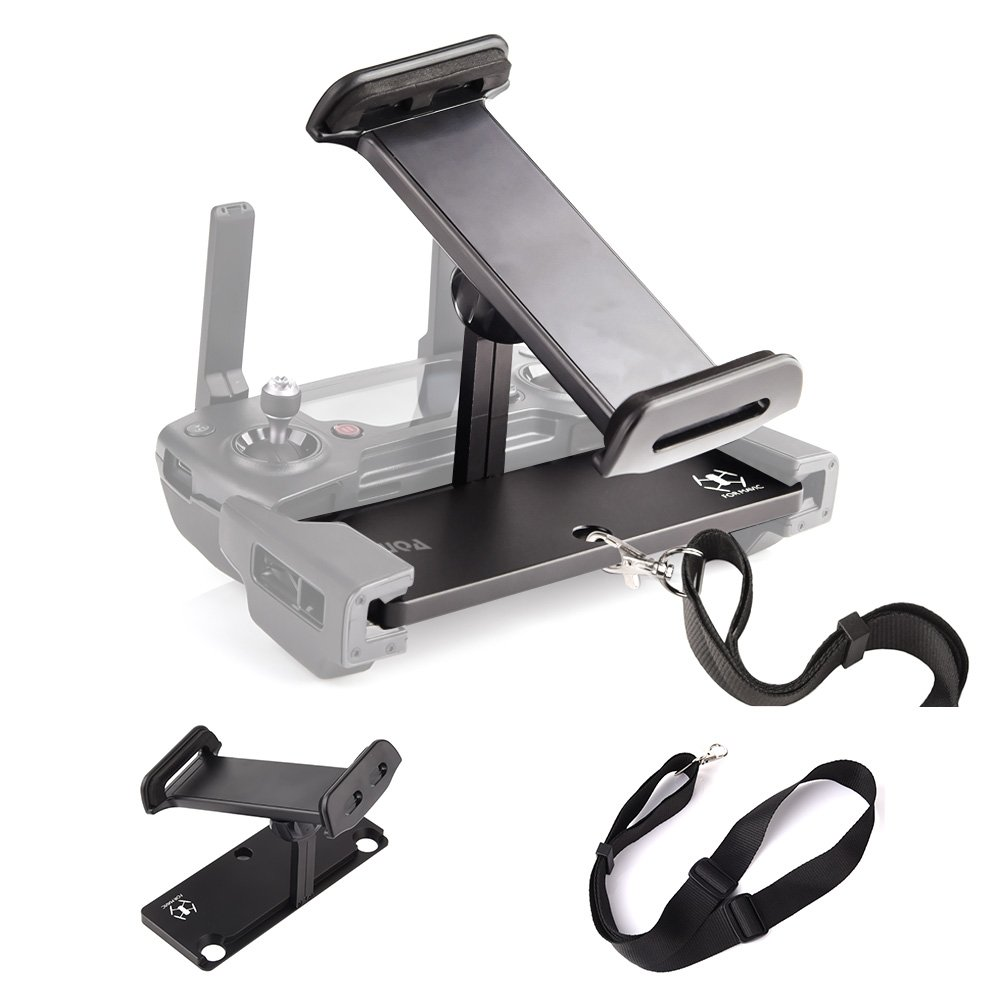 KUUQA Aluminum-Alloy Foldable Tablet Stand Holder Extender with Lanyard for Mavic Pro/Mavic Air/Dji Spark Remote Controller Device (DJI Mavic Not Included)