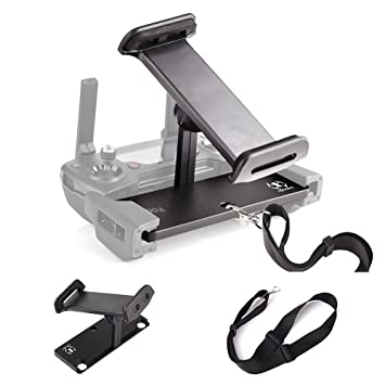 KUUQA Aluminum-Alloy Foldable Tablet Stand Holder Extender with Lanyard for  Mavic Pro/Mavic 2/Mavic Air/Dji Spark Remote Controller Device (Drone Not
