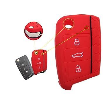 wabenförmig Silicona Key Cover Case Carcasa Seat Llave de Llave Fija (con Aislamiento Funda para klapps chlu Essel Rline Carcasa Llave para Llaves 3 ...