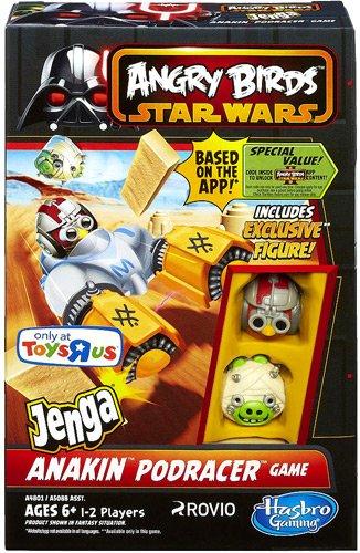 Amazoncom Angry Birds STAR WARS Jenga Anakin Podracer Game Toys