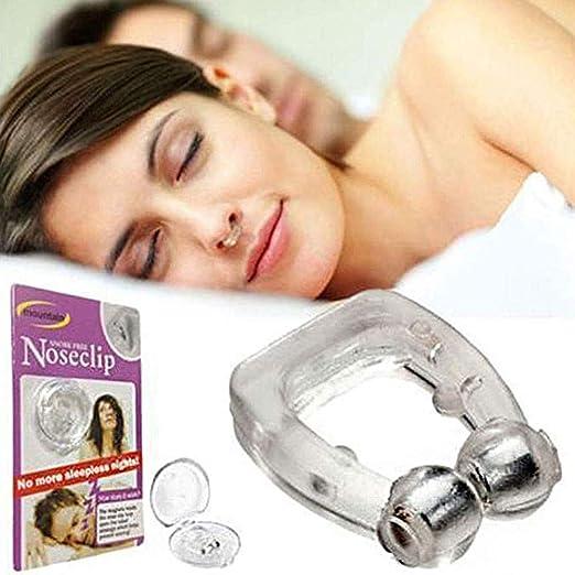 Anti Ronquidos Clip de Nariz de Silicona Parada Magn/ética Ronquidos Clips de Nariz Dispositivo de Ayuda para Dormir Apnea Anti-ronquidos