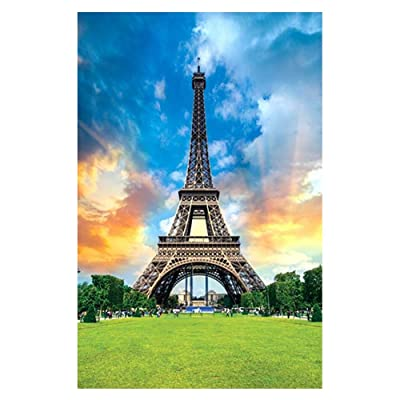 Retrofish Landscape Puzzles for Adults 1000 Piece, Places of Historic Interest Painting Eiffel Tower Jigsaw Puzzle, Entertainment DIY Toys for Creative Gift Decor: Home & Kitchen