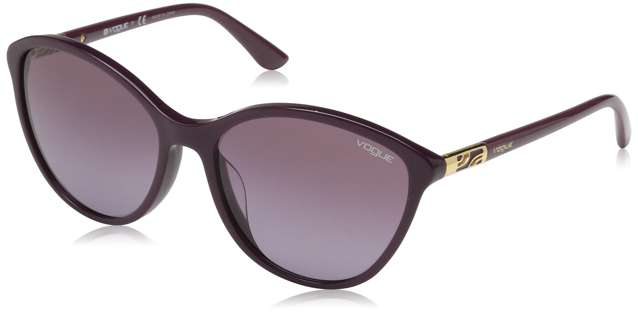 Ray-Ban Women's Plastic Woman Cateye Sunglasses, Red Purple, 57 mm