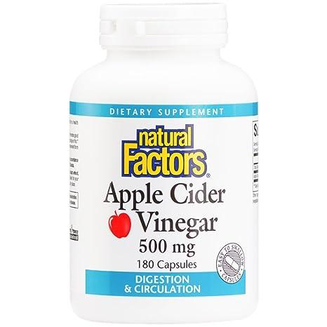 El vinagre de manzana, 500 mg, 180 cápsulas - Factores Naturales