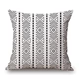 artistdecor geometric cushion covers 16 x 16 inches / 40 by 40 cm gift or decor for divan,sofa,home,kids room,coffee house,bedding - each side