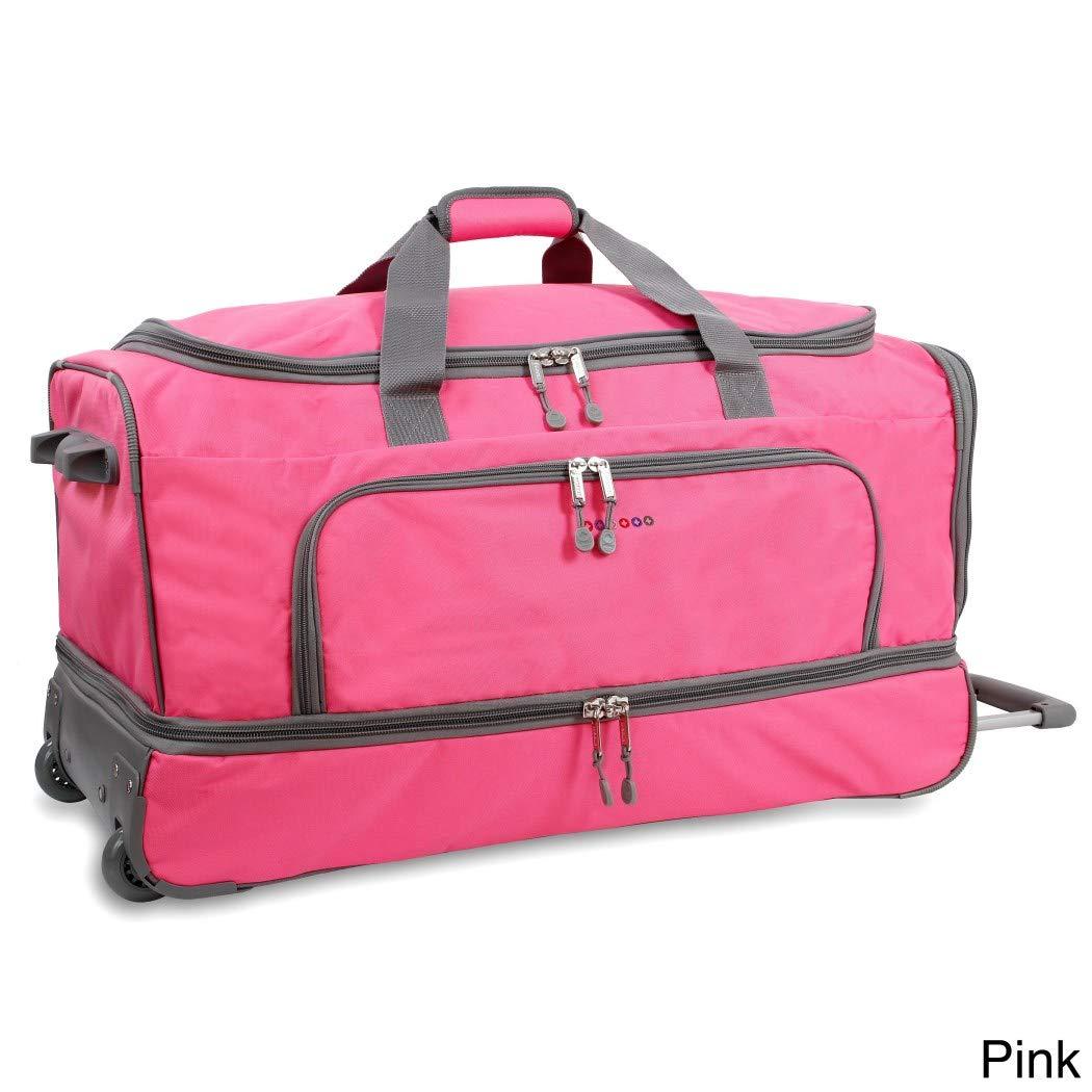 ピンク30-inch Drop Bottom Softsidedローリングダッフルバッグ、ナイロン&ポリエステル   B01MCYYJ6U