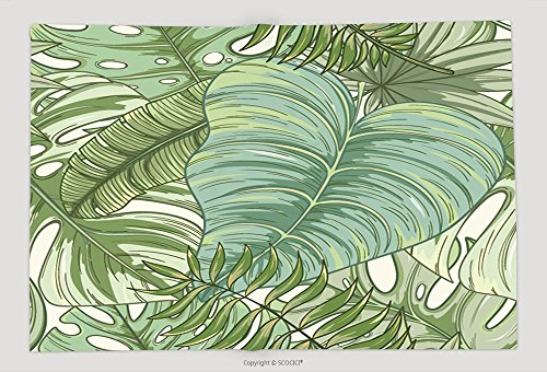 Supersoft Fleece Throw Blanket Seamless Tropical Palm Leaves Pattern Summer Endless Hand Drawn Vector Background Of Areca Palm 638535994