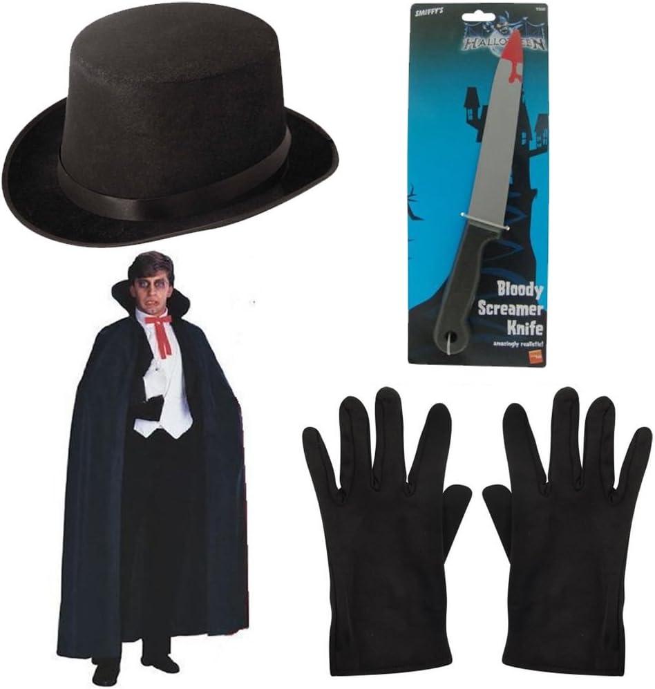 JACK L/'EVENTREUR tueur en série Halloween Déguisement Robe Manteau /& Accessoires