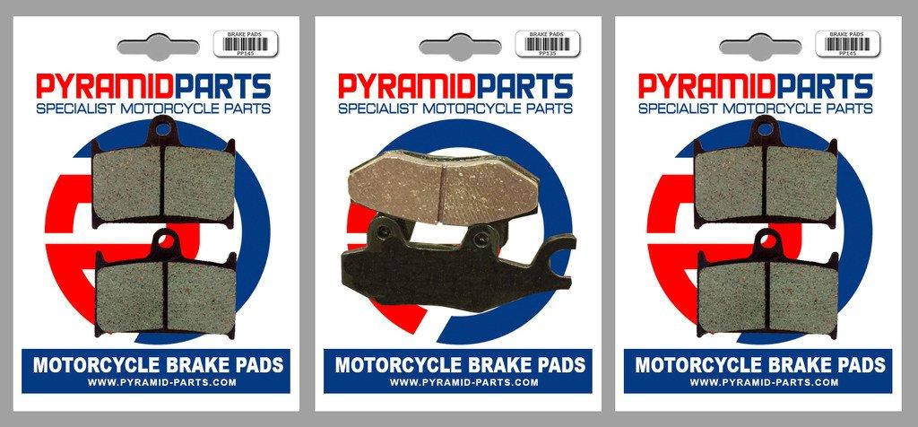 3 Pairs Triumph 1200 Tiger Explorer 2012 Front /& Rear Brake Pads Full Set