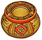 Ceramic Ashtrays Moroccan hand made Smokless Small 3.5 inches