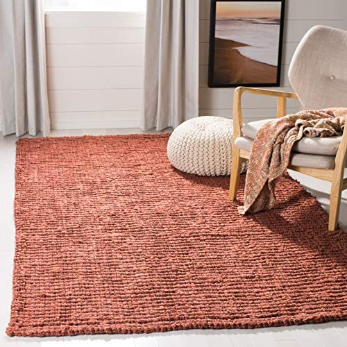 Safavieh Natural Fiber Collection NF447C Hand Woven Rust Jute Area Rug 4' x 6'