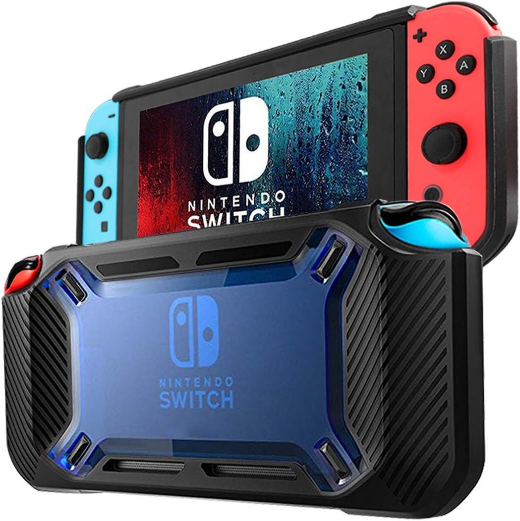 Estuche DOYO para Nintendo Switch, Estuche de Goma Resistente para Nintendo Switch, Negro / Azul, Estuche Protector de Nintendo Switch con Absorción de Impactos y Resistencia a Los Arañazos: Amazon.es: Videojuegos