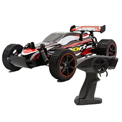 15+Mph RC Car High Speed Remote Control Car Fast Electric Vehicle Cars 1:18 - Gift for Kids (Red)