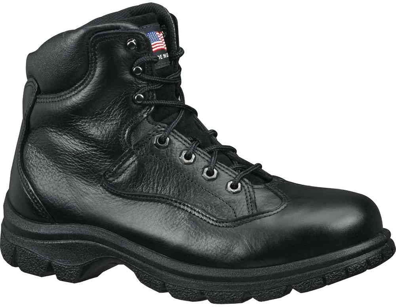 Amazon.com | Thorogood Mens Work Black Leather Safety Toe Boots ...