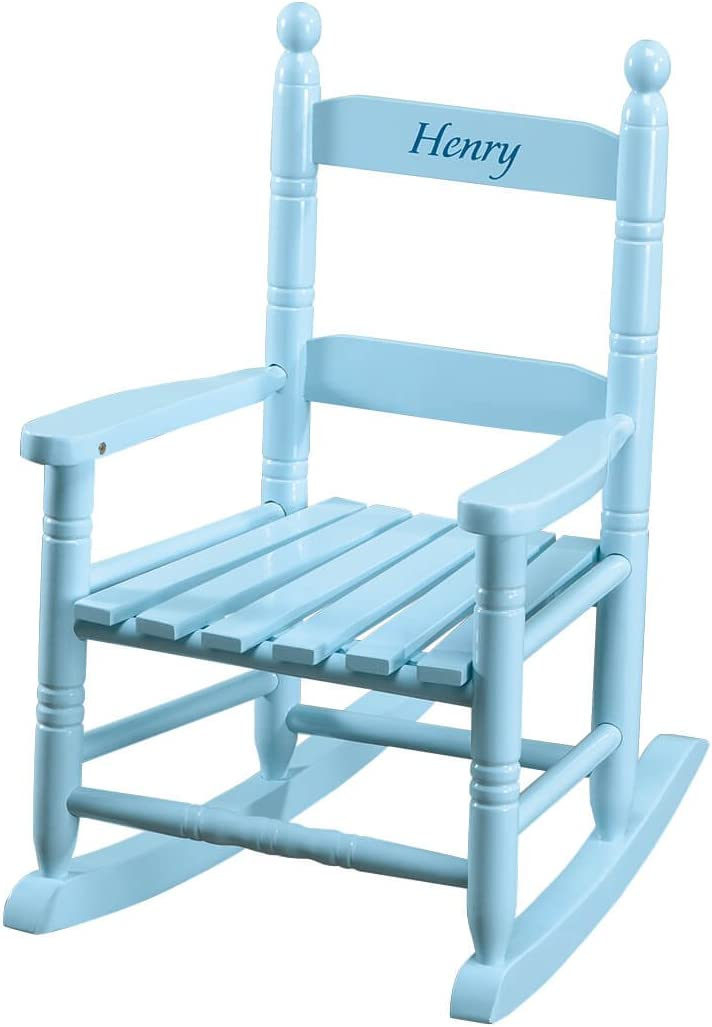 Miles Kimball Personalized Blue Children's Rocker