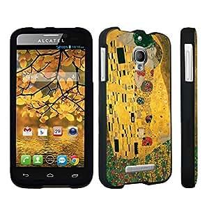 DuroCase ? Alcatel One Touch Fierce 7024W Hard Case Black - (The Kiss)