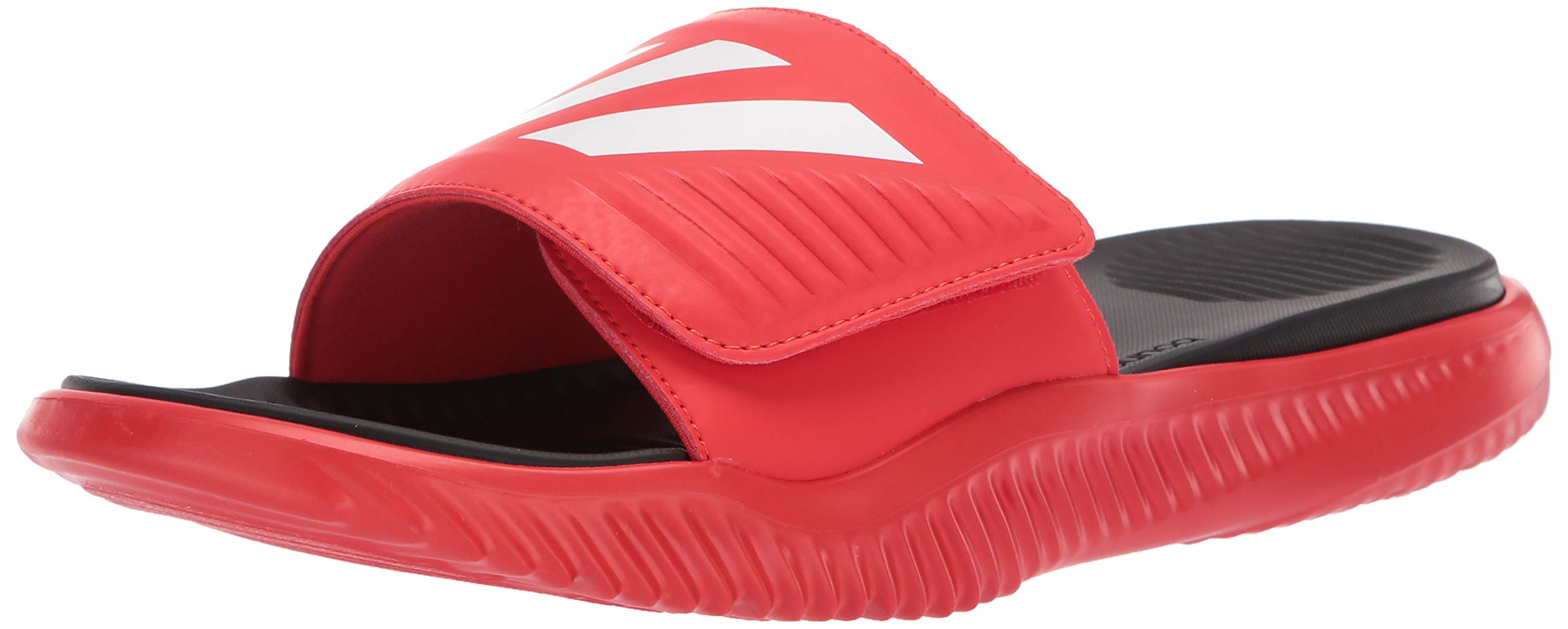 adidas Men's Alphabounce Slide Shoes, Active red/White/Black, 10 M US