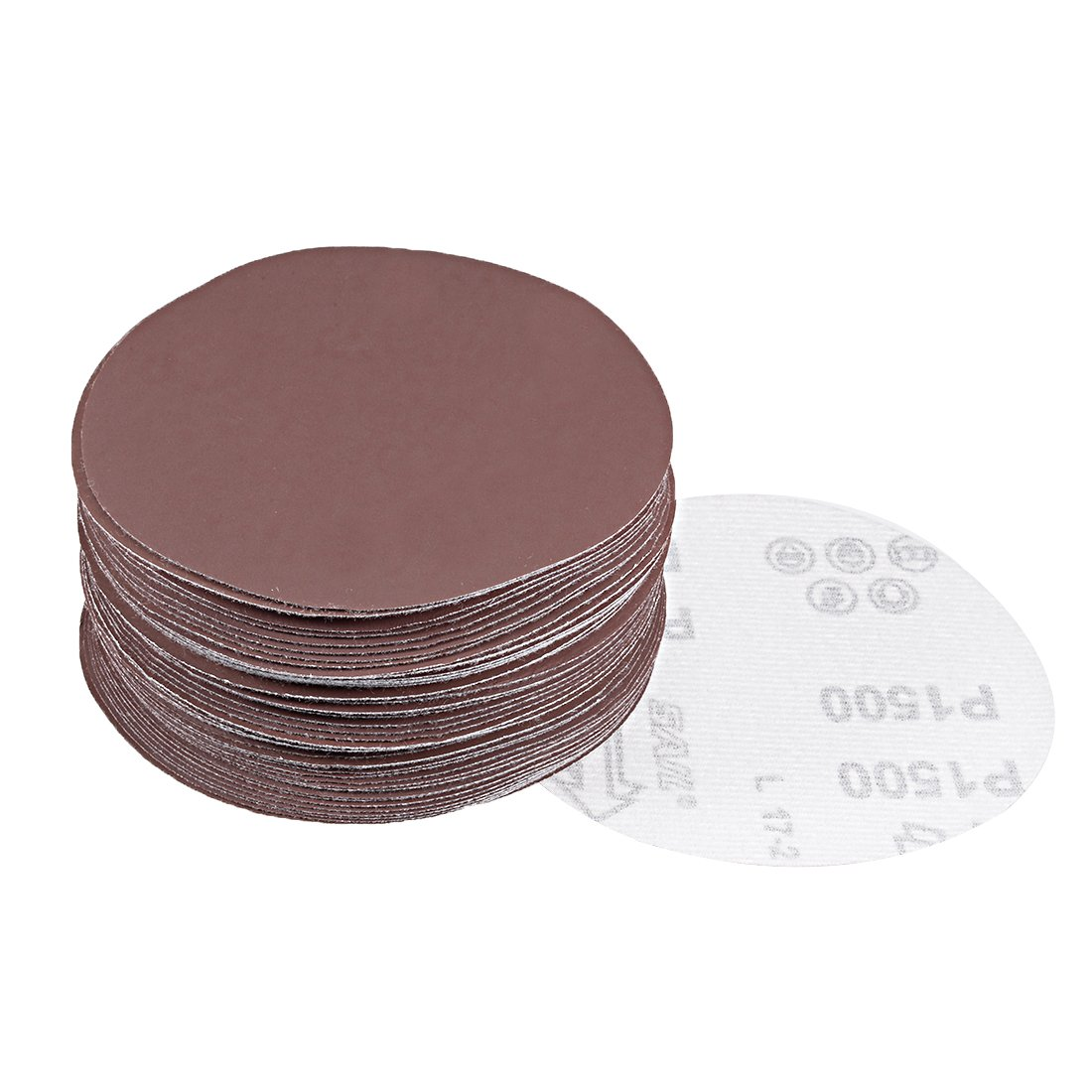 uxcell® 50Pcs 5 inch Hook and Loop Sanding Disc 2000 Grits Flocking Sandpaper for Random Orbit Sander a18060400ux0450