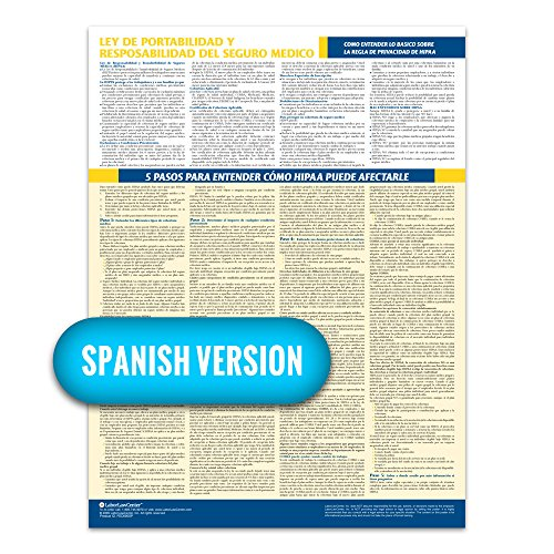 2019 HIPAA Compliance Poster (Spanish) - Laminated & 100% Compliant