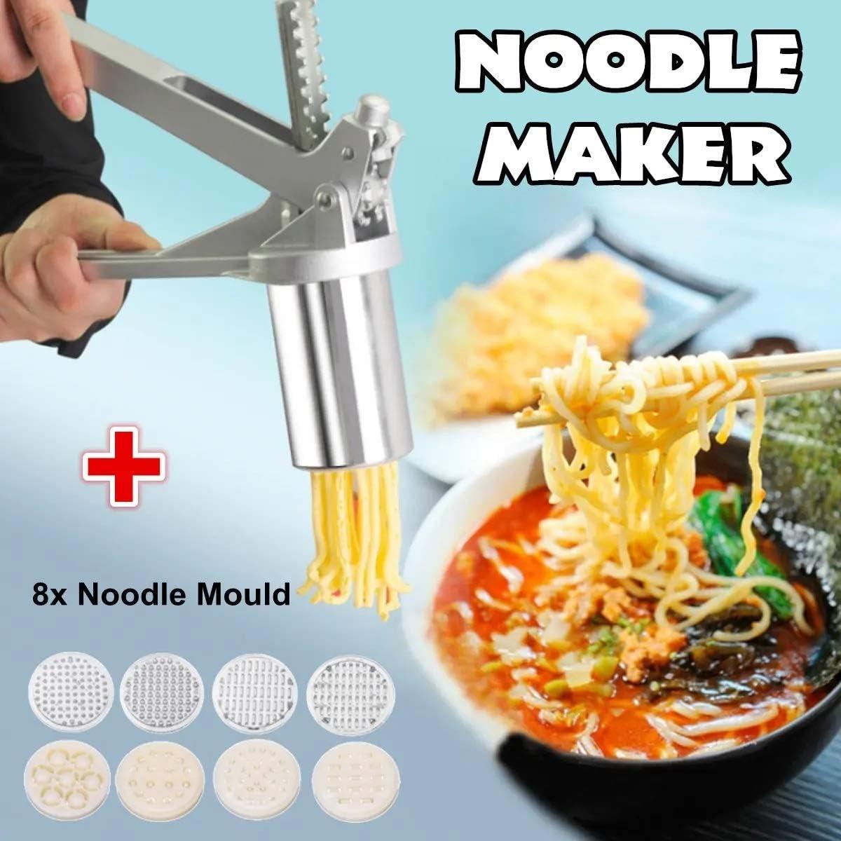 Compra ZDAMN Máquina de Pasta Acero Inoxidable Fabricante de tallarines de Las pastas de Frutas Exprimidor Prensa Espaguetis Robot de Cocina Pasta Cortador (Color : Silver, Size : One Size) en Amazon.es
