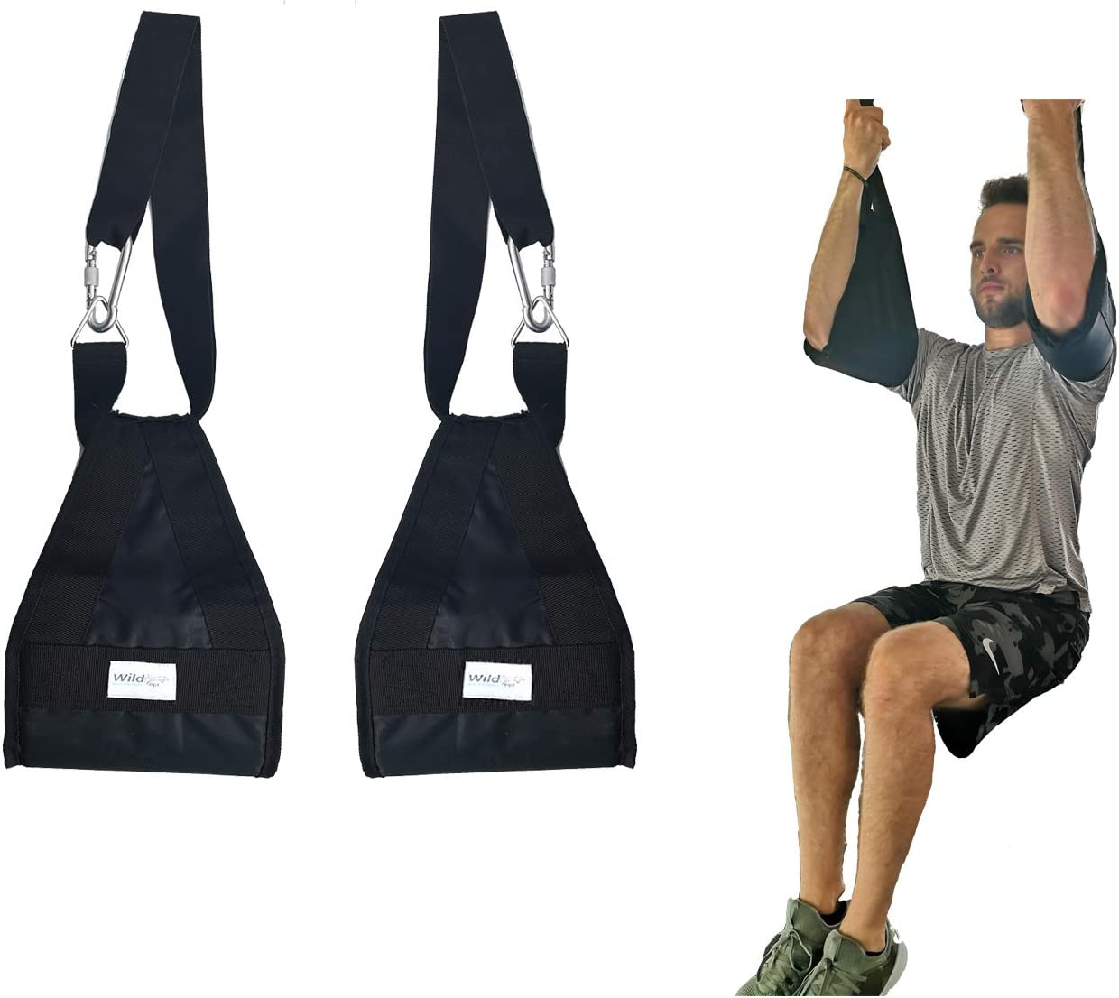 Premium Crunch Pull-ups Ab Straps, Adjustable, Hang Upside Down Leg Exercise, Full Body Gym Fitness, Knee Raise & Bodyweight Trainer, Stomach Workout, Abdominal Hanging for Men and Women