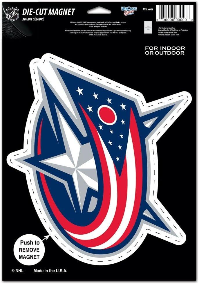 WinCraft NHL Columbus Blue Jackets 88503010 Die Cut Logo Magnet Small Black