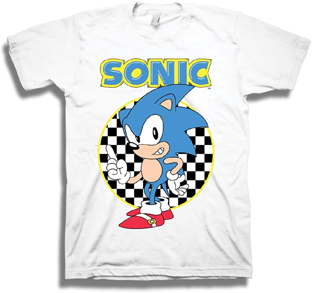 Amazon Com Sega Official Sonic The Hedgehog Shirt The Fastest Thing Alive The Blur Blur Official T Shirt White X Large Clothing