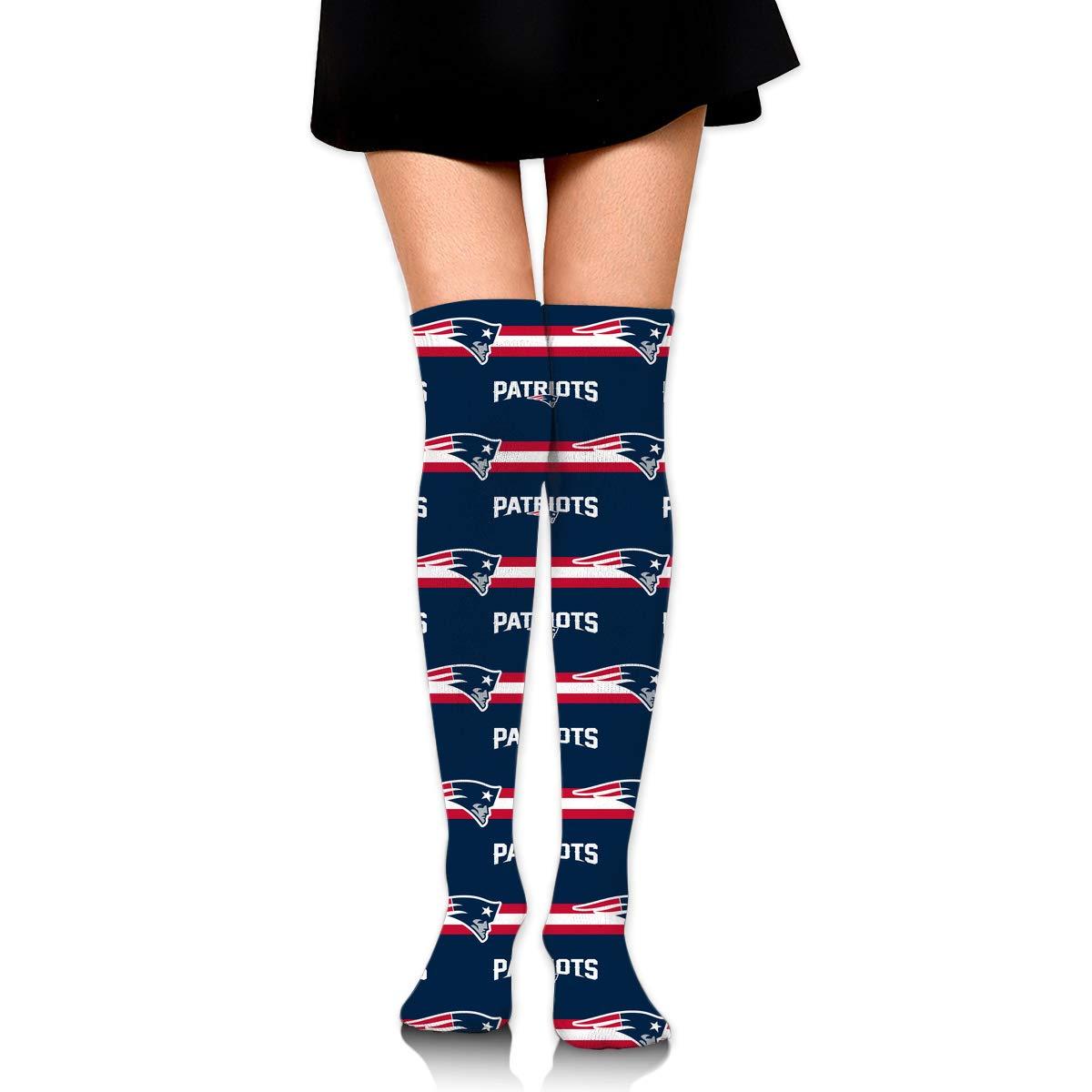 Sorcerer Custom Girls Over Knee High Boot Stockings Leg Warmers New England Patriots Women's Polyester Thigh High Socks Gift by Sorcerer
