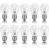 10 x Ampoules à incandescence transparent e27 25 w ampoule de rechange
