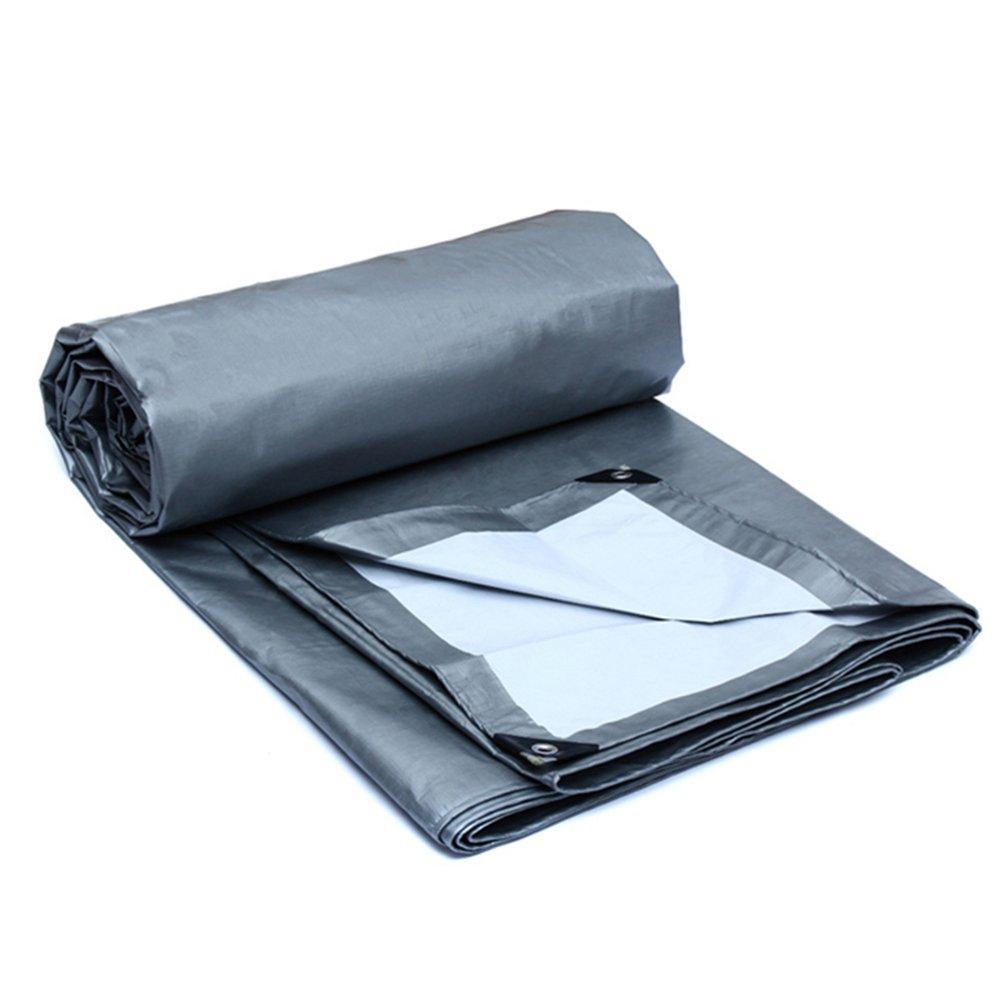 AJZGF Im Freien Imprägniern Sie Planeautolastwagensonnenschutzplanen-Sonnenschutz-Planepkw-Zelt im Freien (Farbe : Silber, größe : 8x6m)