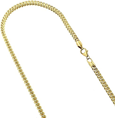 Length Options 14k Yellow Gold Lobster Claw Closure Hollow Rope Chain Necklace 16 18 20 22 24 26 28