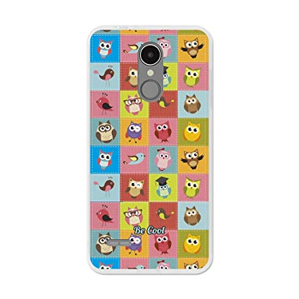 Amazon.com: LG K9 TPU CASE - Colourful Owls - BeCool: Cell ...