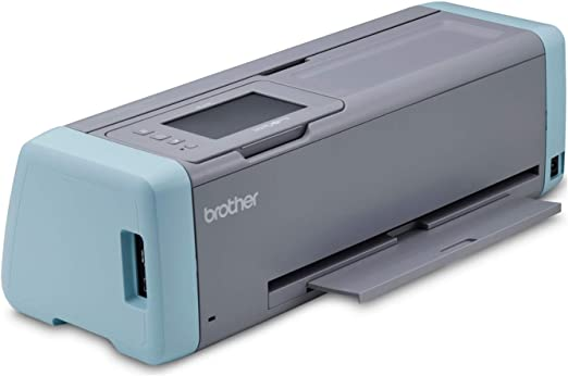 Brother ScanNCut DX, SDX125, pantalla táctil LCD de 5 pulgadas, escáner de red inalámbrica, 600 ppp, máquina de corte electrónico 682 diseños integrados, color gris y azul: Amazon.es: Hogar