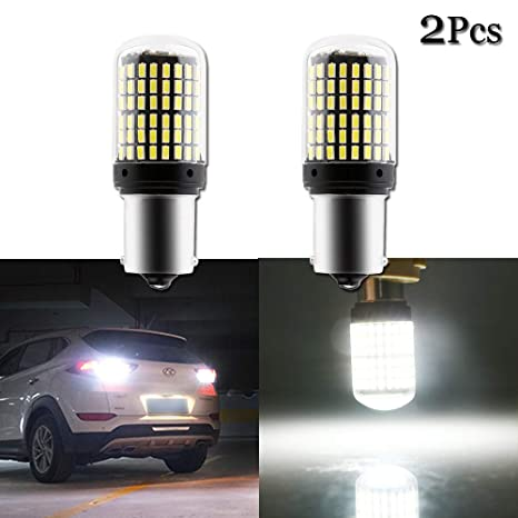 Grandview 2pcs Blanco 1156 LED Canbus P21W 1141 1003 BA15S 7506 Bombillas LED con 114-