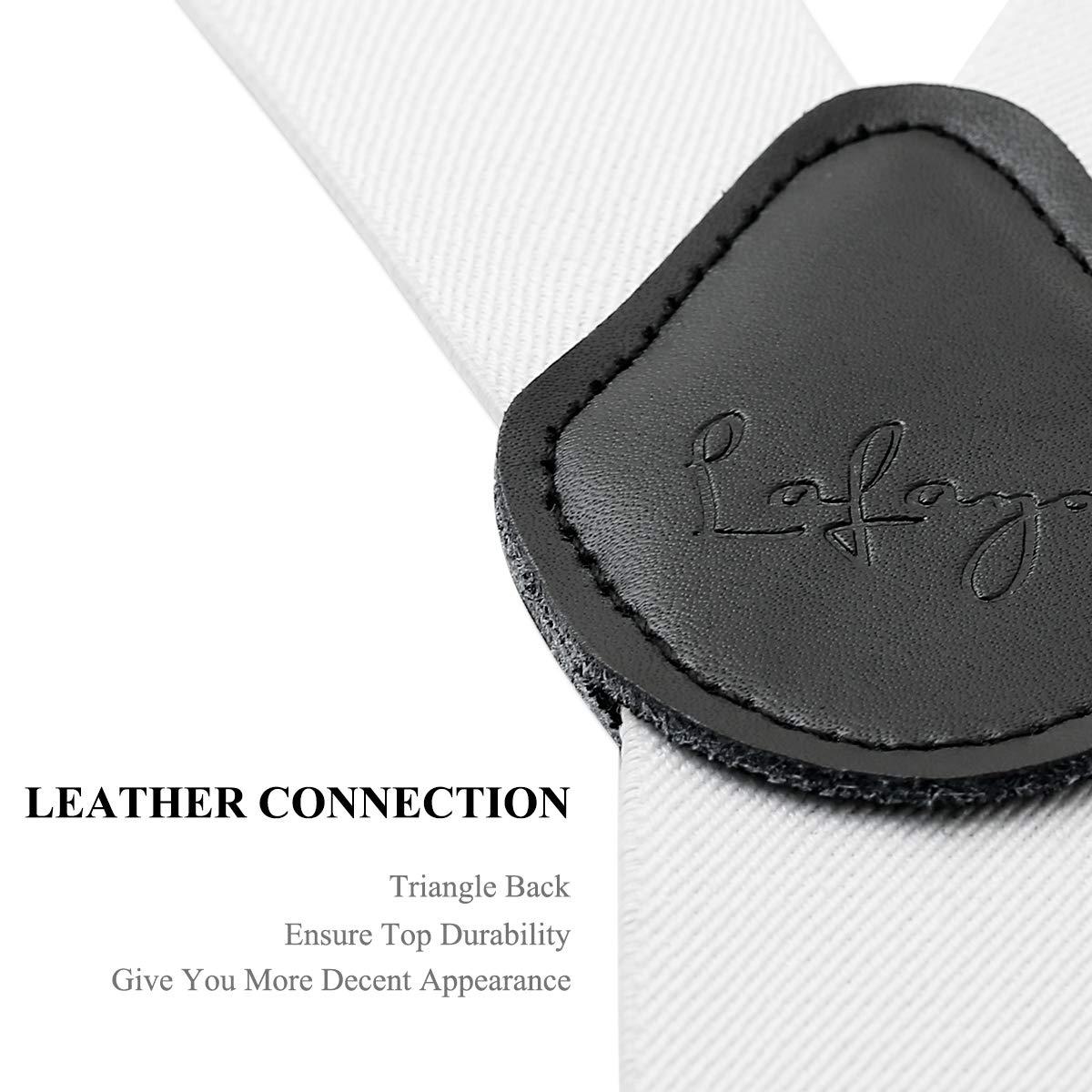 Mens Braces Lafayon Braces For Men 4 Clips Y-Back 1.38/'/' Wide Heavy Duty Adjustable Elastic Mens Suspenders Durable Suspenders Strong Metal Clips