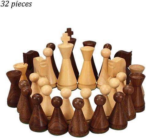 DUOER home Ajedrez 2019 64 cm de Altura Piezas de ajedrez de Madera Juegos de Entretenimiento 32 unids/Set Juegos de Mesa: Amazon.es: Hogar