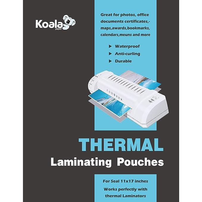 Amazon.com: Koala - Bolsas térmicas para plastificar ...