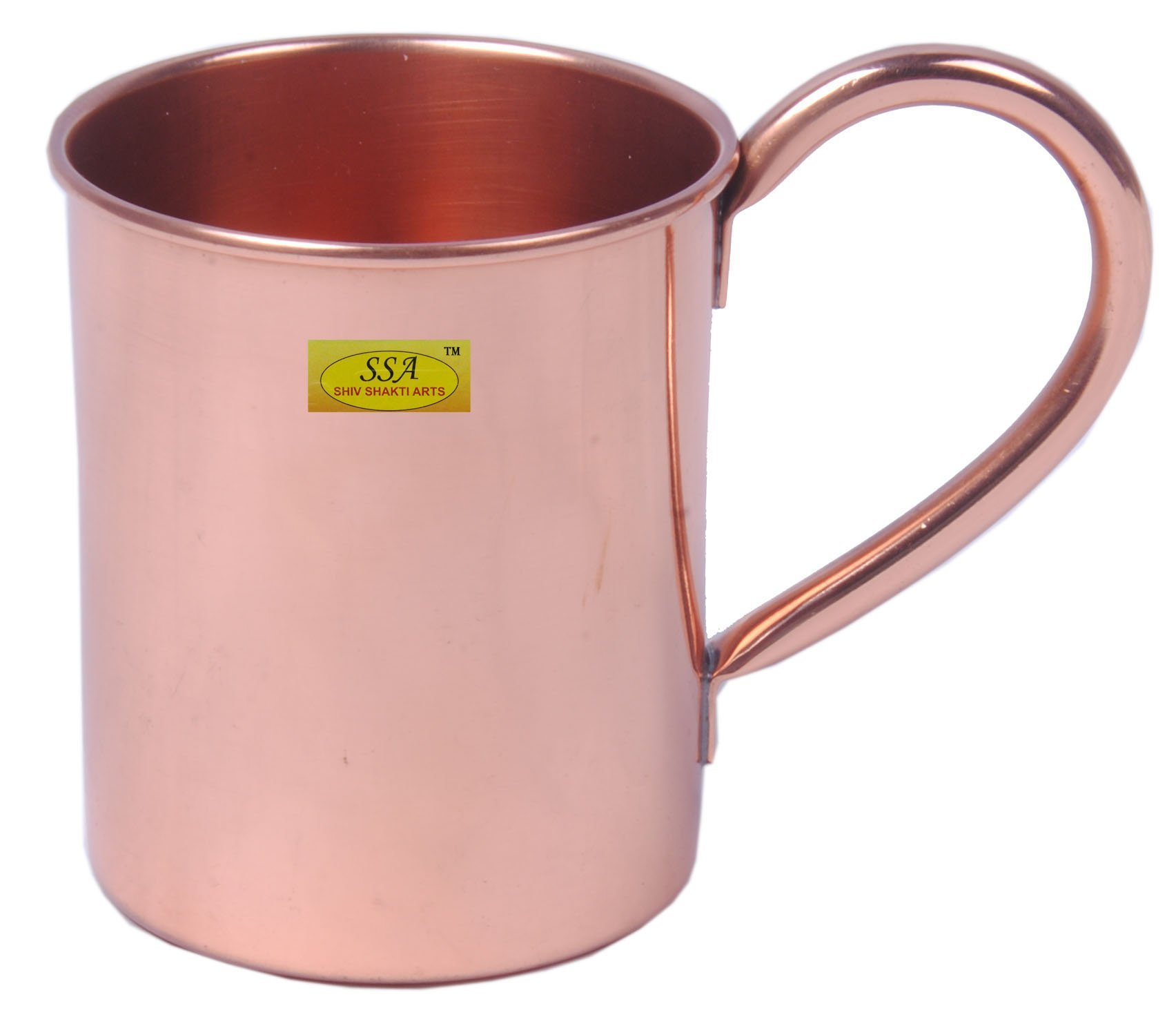 SHIV SHAKTI ARTS 3.5'' X 3.5'' Traditional Handmade 100% Pure Copper Moscow Mule Mug Capacity 415 Ml For Use Restaurant Ware Bar Ware Hotel Ware Home Ware For Wine Vodka Beer